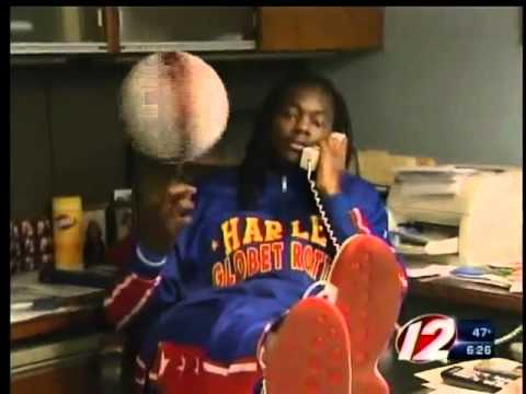 Globetrotter player wreaks havoc at WPRI-TV