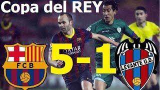 Barcelona Vs Levante 5-1  TODOS LOS GOLES  Vuelta Copa Del