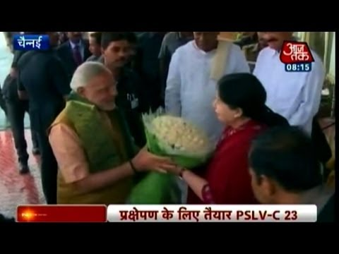 PM Modi reaches Sriharikota Space station