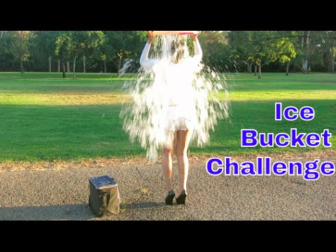 The Sexiest Ice Bucket Challenge in High Heels for ALS Ever!