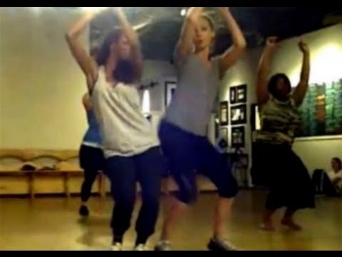 Katerina Graham & Candice Accola [The Vampire Diaries] dancing on Holiday by Madonna