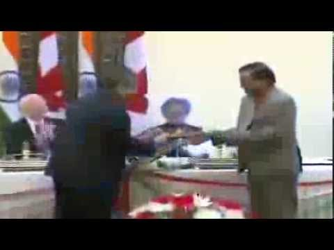 State Visit of Governor General of Canada to India: Signing of Agreements (Feb 24, 2014)
