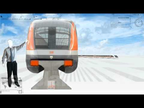 Trenes de levitación magnetica, en 3 minutos. En HD. www.explainers.tv