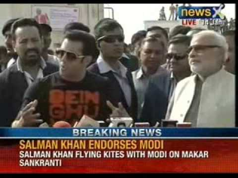 Salman Khan meets Narendra Modi, flying kites on Makar Sakranti - NewsX