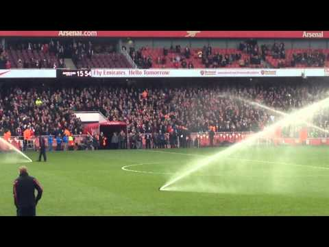 Dennis Bergkamp Interview on pitch - 22nd Feb 2014 (vs Sunderland)