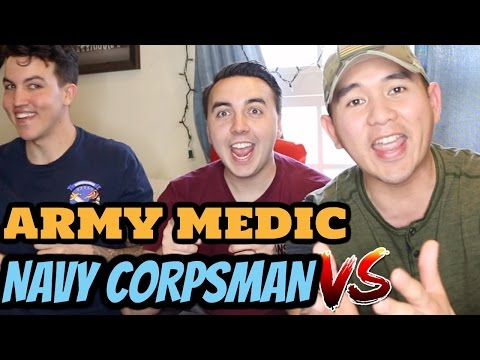 ARMY MEDIC VS  NAVY CORPSMAN (ARMY vs NAVY)