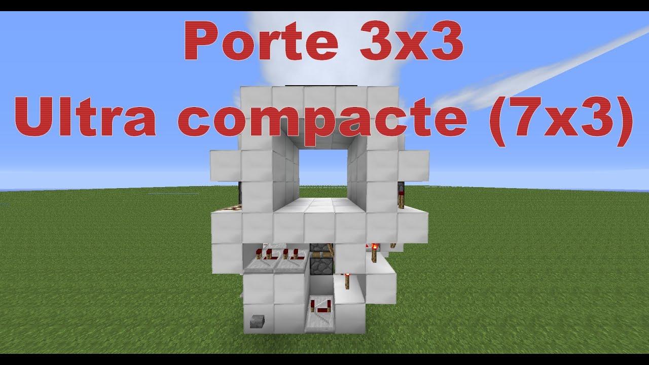 Minecraft porte 3x3 tuto 7x3 1 4 7 youtube for Porte and minecraft
