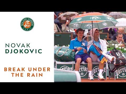 Roland Garros sous la pluie avec Novak Djokovic