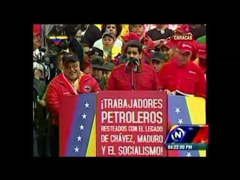 Presidente Nicolás Maduro firma el contrato colectivo de los trabajadores petroleros