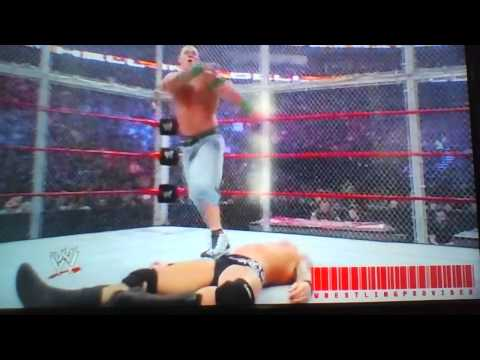 wwe randy orton vs john cena hell in a cell 2009 highlights
