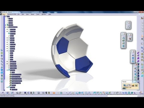 Catia V5 Tutorial|Generative Shape Design|How to create a Soccer Ball|Start to Finish|Part 2
