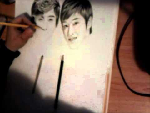 Max changMin and U-know Yunho Pencil Drawing( MERRY CHRISTMAS!)