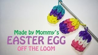 Rainbow Loom Charm: Easter Egg Off The Loom