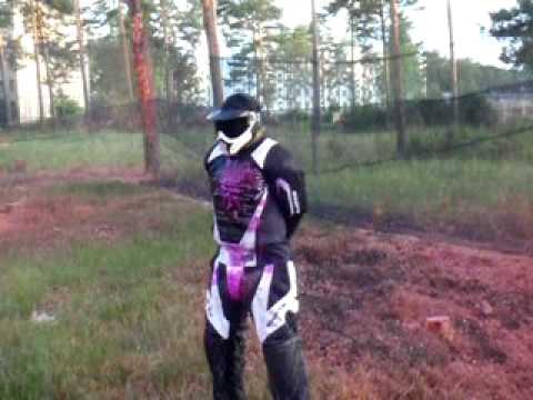 Testing paintball body armour,Mahlwinkel Big Game, May 2009 - YouTube