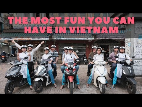 The most fun you can have in Vietnam!  Street food and nighttime city tour in Saigon!