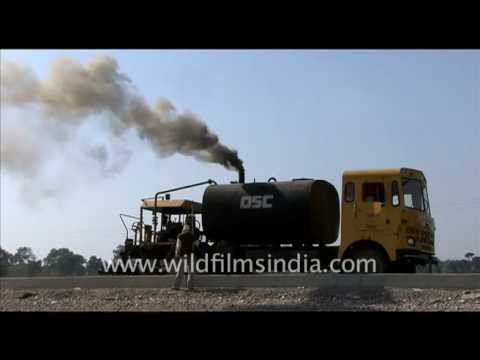Smoke and pollution from construction equipment