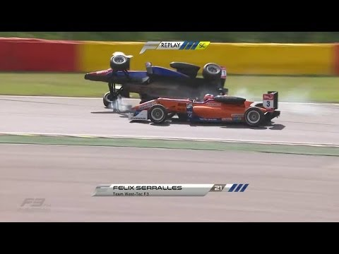 Felix Serralles Huge Crash @ 2014 Formula 3 Spa Race 2