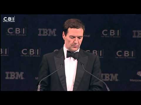 Chancellor George Osborne at the CBI Annual Dinner