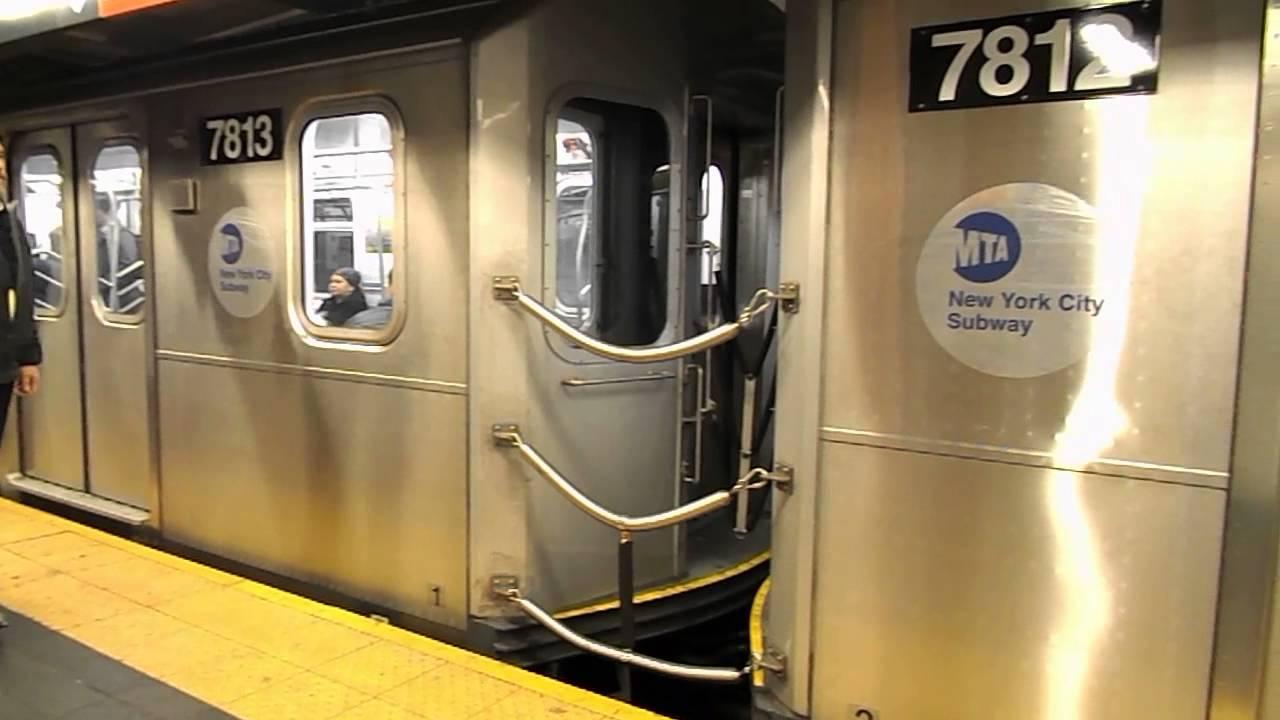 New York City Subway HD: Kawasaki R188 7 Train Departs ...