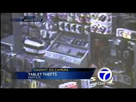 Man uses son to steal tablets