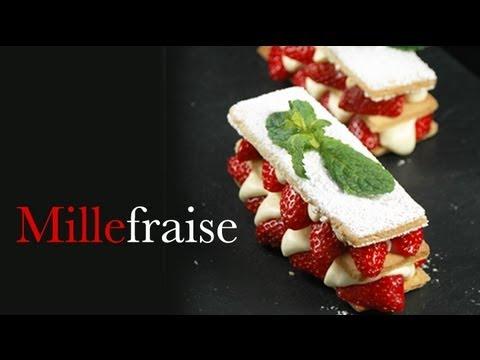 Tarte aux fraises millefeuille millefraise avec - Youtube herve cuisine ...