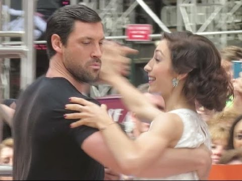 Meryl Davis & Maks Chmerkovskiy dancing at GMA after winning Dancing With the Stars Season 18 finale