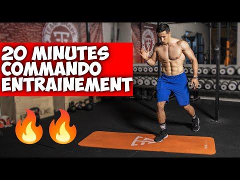 20 min commando entrainement perte de poids (super intense)