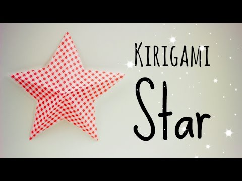 Kirigami simple star, its KI-RI-GA-MI!!!!!!!!!!!! KIRI= CUT tutorial teaching how to make a easy kirigami star using one square paper Stop saying its not origami. Its written on...