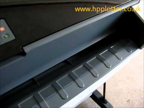Designjet T1100/T1120 Series - Load paper/media roll on your printer