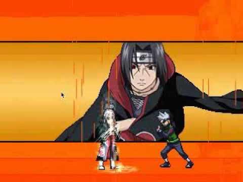jogando Naruto Shippuden MUGEN 2014 com Uchiha  Itachi