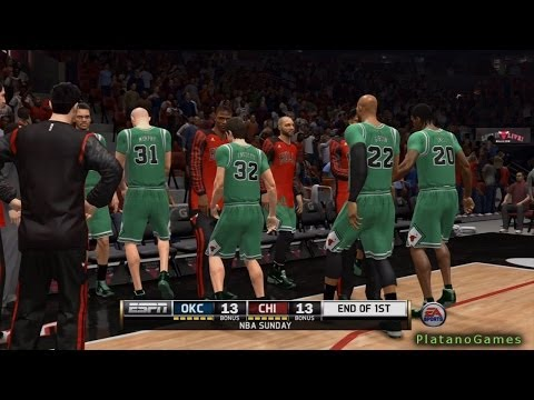 NBA Live 14 PS4 - Oklahoma City Thunder vs Chicago Bulls - Halftime Highlights Show - HD