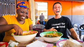 Street Food in Ghana - GIANT CHOP-BAR LUNCH and West African Food Tour in Accra!