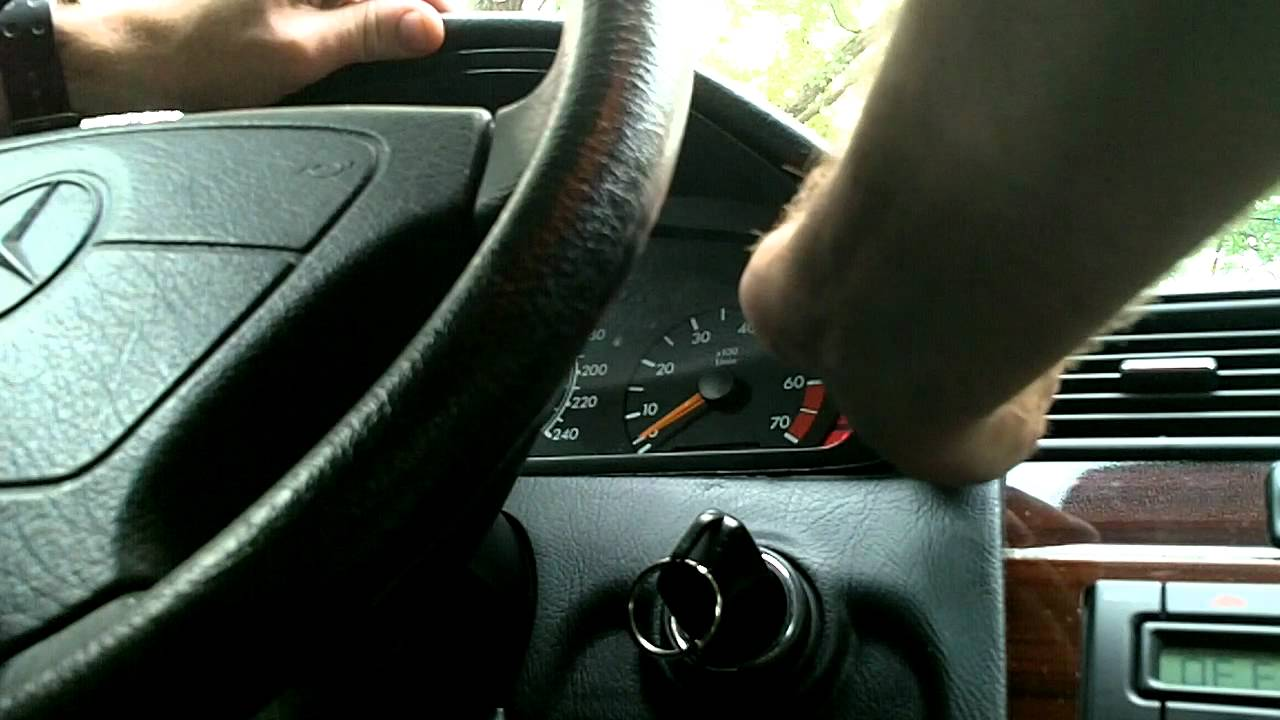 how to remove cluster in a 2005 mercedes benz sl class