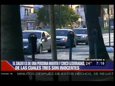 Balacera y Narcobloqueos En El Centro De Monterrey, Nuevo Leon 31/07/10 TELEVISA MONTERREY