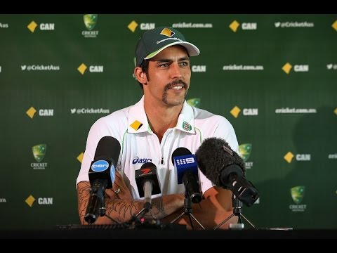 Ashes Press Conference - Mitchell Johnson 27 Nov 2013