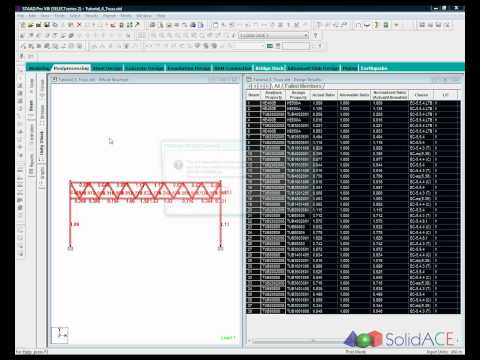 SolidWorks link to STAAD.Pro for Truss analysis&design, using BuiltWorks Export/Import to Analysis