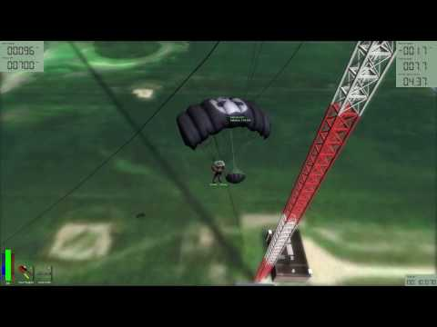 Base jump Antenna Canopy wire hit