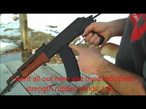 AK-47/AK-74-Rubber Band Trigger Trick-Rapid Fire!