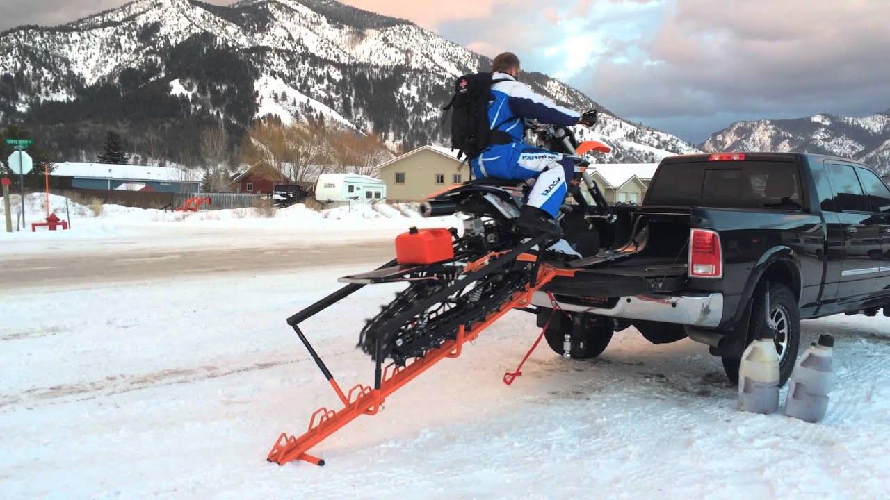 Snowest Test The Spine Snow Bike Ramp Youtube