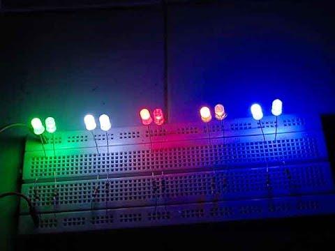 Giới thiệu bóng đèn led siêu sáng 5mm, bóng led siêu sáng 5 ly loại đục trong đủ màu
