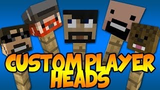 How To Get Custom Player Heads In Minecraft 1.7.4 (No Mods
