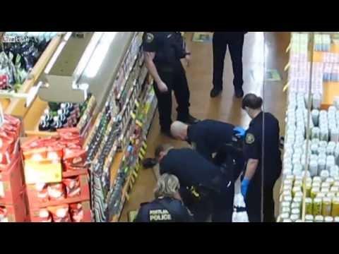 Police taser man in Whole Foods supermarket