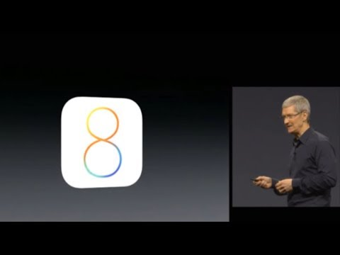 IOS 8 WWDC 2014 Apple Keynote Event June 2, 2014