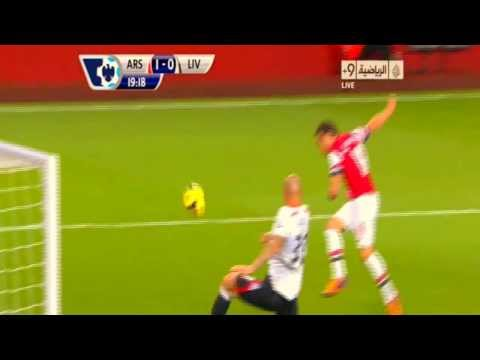 Arsenal vs Liverpool 2 0 2013 Goals & Highlights 2 11 2013 HD Cazorla & Ramsey