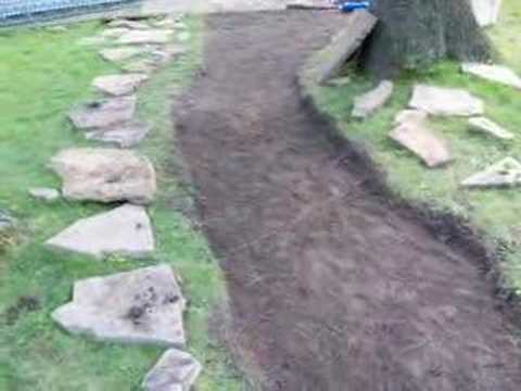make a stone walkway youtube. Black Bedroom Furniture Sets. Home Design Ideas