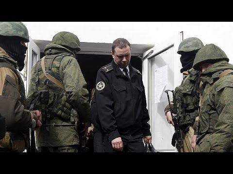 Pro-Russian troops take over Ukrainian naval HQ in Crimea