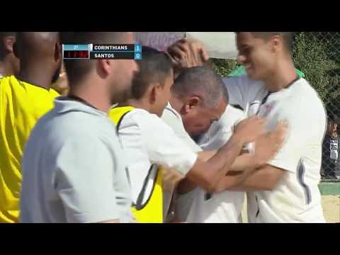 Os gols de Corinthians 5 x 1 Santos pelo Campeonato Paulista de Beach Soccer