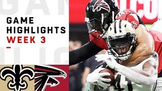 Saints vs. Falcons Week 3 Highlights | NFL 2018