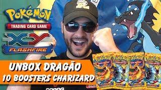 5º Pokémon TCG: Unbox 10 Flashfire Do Mega Charizard