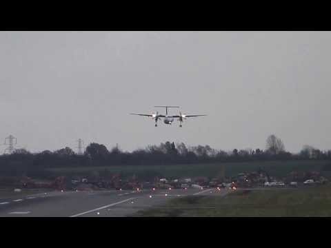 Brussels Airlines Dash 8 go around BHX